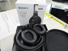Sony model WH1000XM3 wireless noise cancelling headphones in box