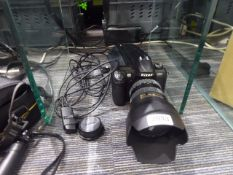 Nikon D100 digital SLR camera with Nikon ED AF-S Nikkor 17-55mm lens with lens carry case and