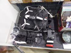 Parrot Bebop drone 2 with Parrot Manfrotto backpack, charger, tablet mount controller, headset and