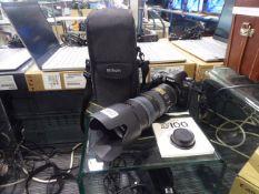 Nikon D100 digital SLR camera with Nikon ED AF-S VR Nikkor 70 x 200mm lens with battery, lens
