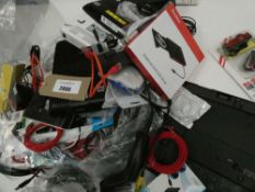 Bag containing quantity of various electrical related accessories; PSUs, leads, spare parts, mice,