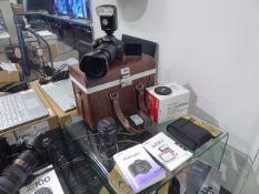 Canon EOS600D digital SLR camera with 2 batteries, carry case, 18-200mm EFS lens, 18-55mm EFS