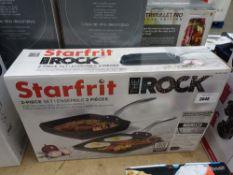 Starfrit The Rock griddle pan set