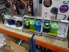 5 assorted Contigo drinks holders and 2 hot mug holders