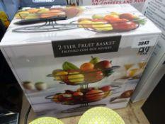 2 tier fruit basket