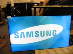 Samsung model UE55D colour display screen with remote (manufactured 2014)
