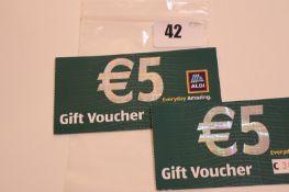 Aldi (x1) - Total face value €10 EUR