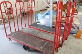11 assorted barrows, approximately 150cm long x 40cm wide, some double ended and some single ended