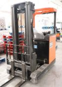 BT LIFTERS model RRN1 15 electric reach truck, year 1999, capacity 1600kg with Energic Plus charger,