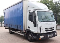 IVECO Euro Cargo 75E16S S-A curtain sided lorry, 7500kg gross, 4485cc diesel engine, registration