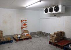 Cold Room - internal measurements approx 5 x 4 metres, external height 2.5 metres, single door,