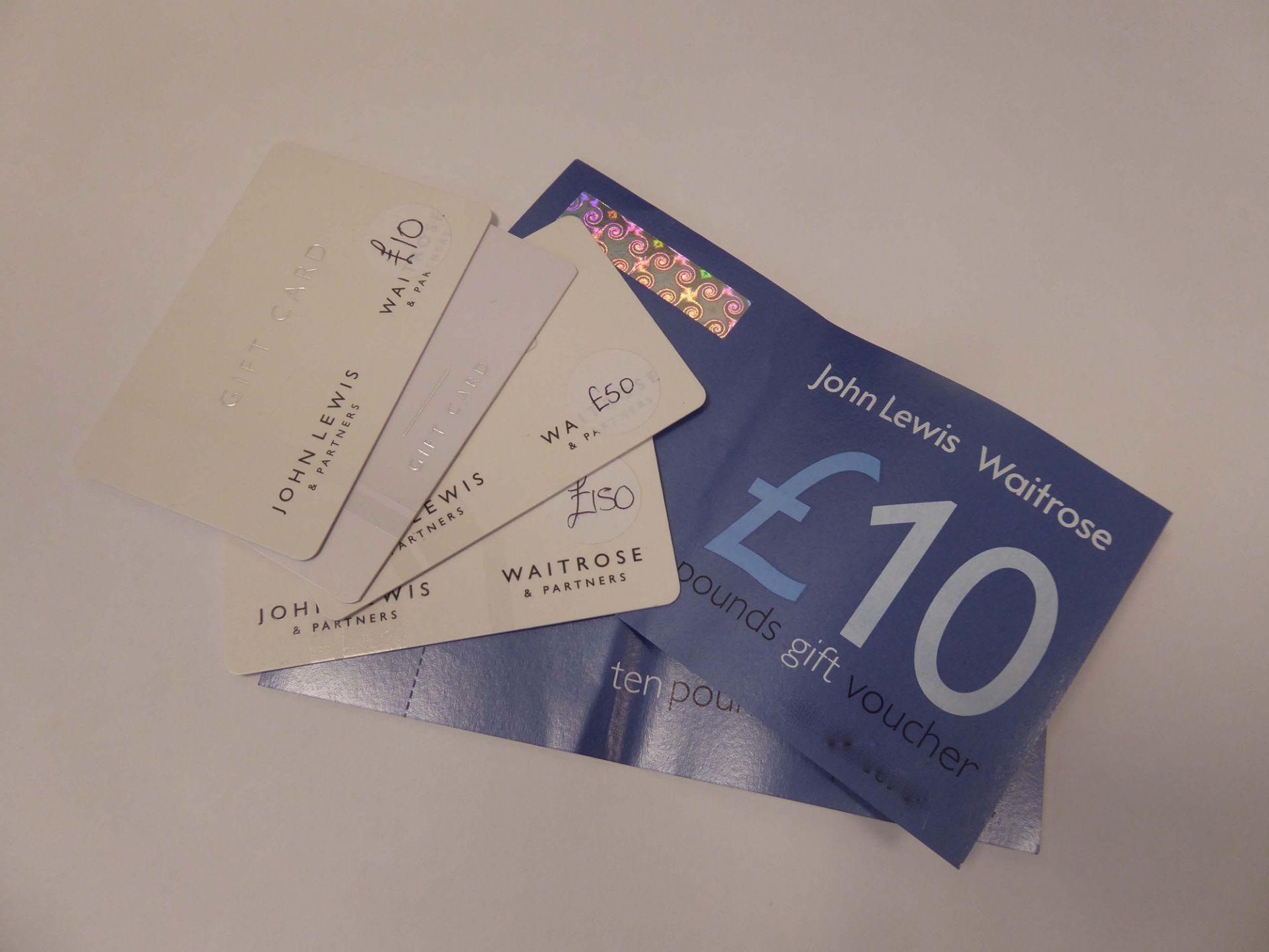 John Lewis (x5) - Total face value £255
