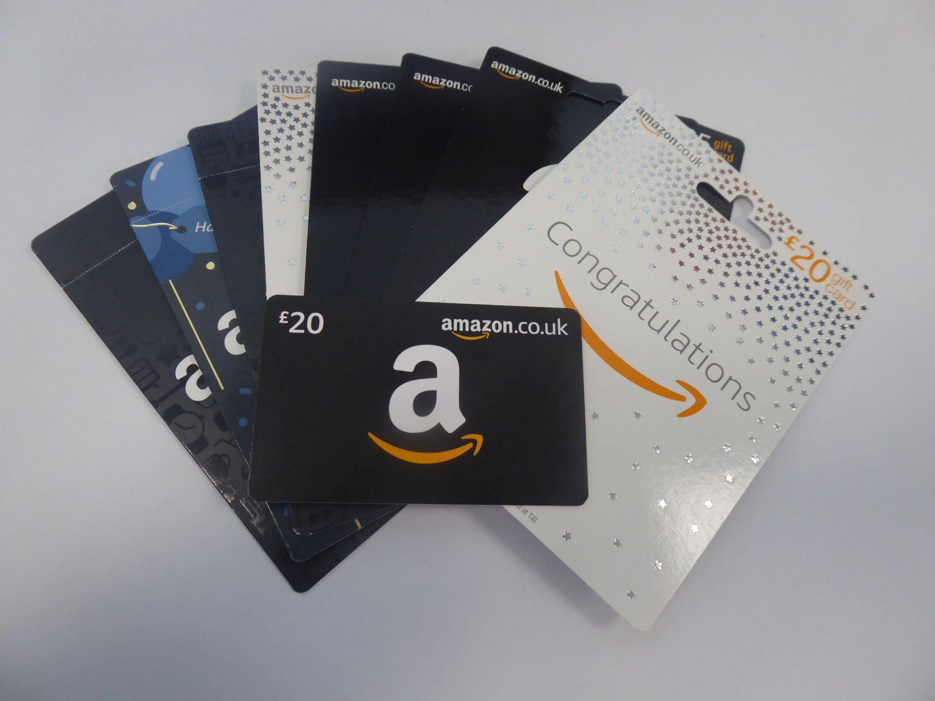 Amazon (x9) - Total face value £185