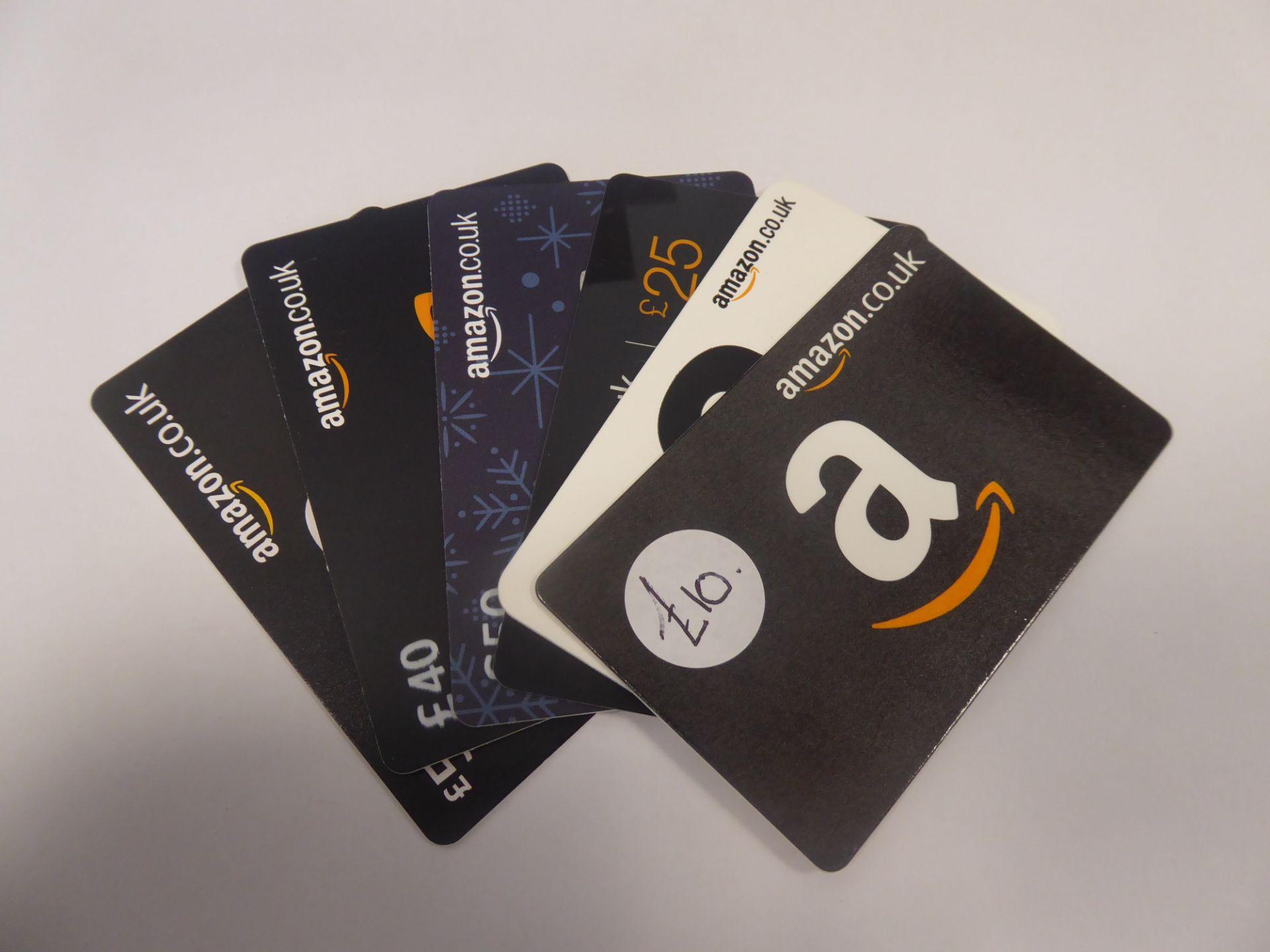 Amazon (x6) - Total face value £190