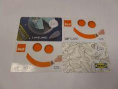 Various : Homewares & DIY (x4) - Total face value £80
