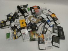 Bag containing quantity of various vaping accessories; tanks, coils, atomisers etc
