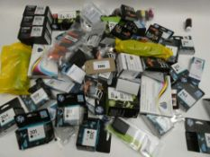 Bag containing quantity of various printer ink cartidges