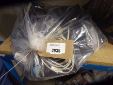 2697 Bag of misc. cables, adaptors, IT equipment etc