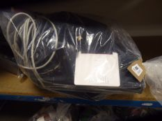 2694 Bag containing You View TV box, Virgin Media routers, Plusnet adaptors, Sky Boxes etc