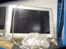 Apple monitor with keyboard, psu and cables