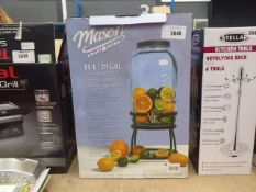 Boxed Masoncraft glass drinks dispenser