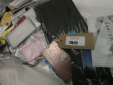 Bag containing quantity of various mobile phone covers and cases