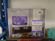 Sanus Simplicity full motion TV wall mount in box for up to 55'' TV's