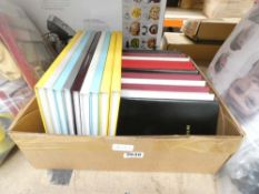 Box containing a qty of note books