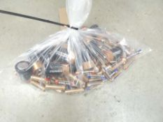 Small bag of Kirkland and Duracell batteries