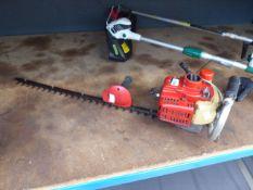 Shindaiwa petrol powered hedge cutter