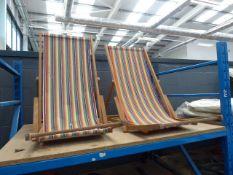 2 Garden deck chairs