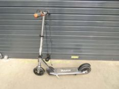 Silver Razor electric scooter with charger