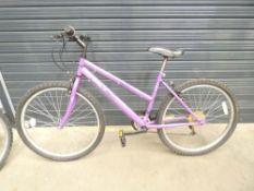 Berona purple girls mountain bike