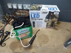 Box of LED string lights and type of Round up