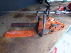 Husqvarna petrol powered chainsaw