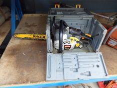 Boxed Ryobi petrol powered chiansaw