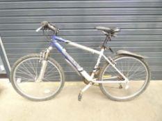Apollo blue and grey mountain bike