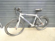 Silver specialised mountain bike