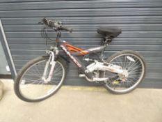 Amacco black suspension mountain bike