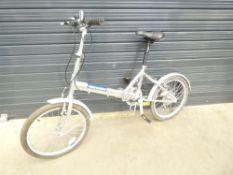 Salcano silver fold up bike
