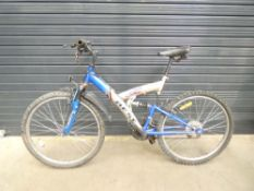 Gold and blue Best B250 suspension mountain bike