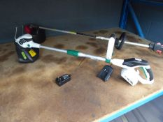 Qualcast battery powered strimmer with one battery and charger