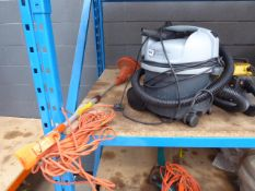 Electric strimmer and a Nilfisk vacuum cleaner