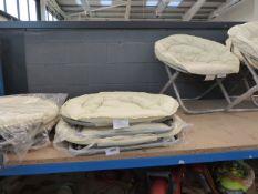 4190 2 Cream fold up garden chairs