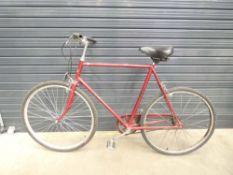 Hercules red gents bike