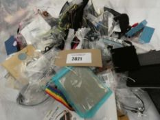 Bag containing various loose costume and dress jewellery