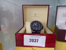 Stockwell automatic watch with black stainless steel strap