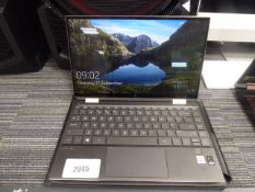 HP Specter X360 13'' display touch screen laptop core i7 Windows 10, 8gb ram, 500gb ssd, with