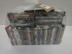 Bag containing quantity of various DVDs
