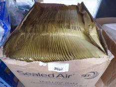 Box of brown sealed air bags